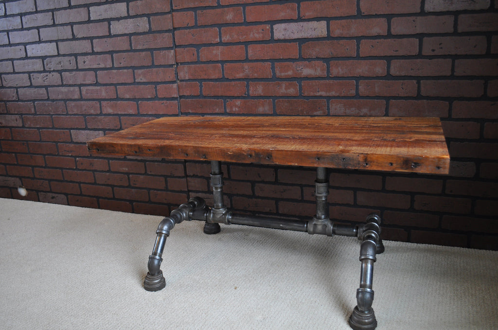 Industrial Barnwood coffee table-SOLD