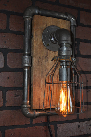 Industrial Steampunk Machine Age Touch Control Wall Sconce Lamp - SOLD
