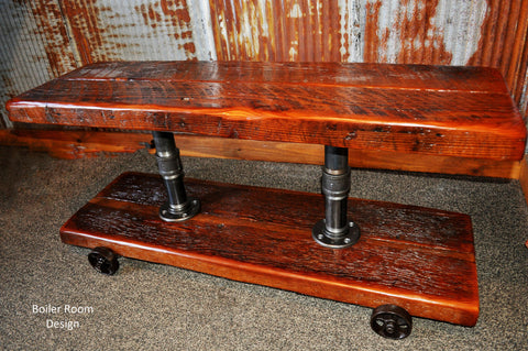 Industrial TV stand or table