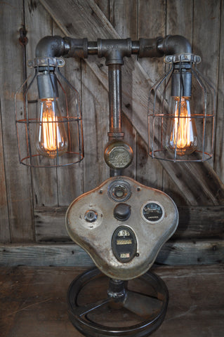 Industrial Steampunk Machine Age Model A Lamp SOLD