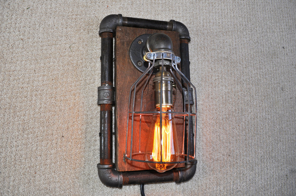 Industrial Steampunk Machine Age Wall Sconce Lamp