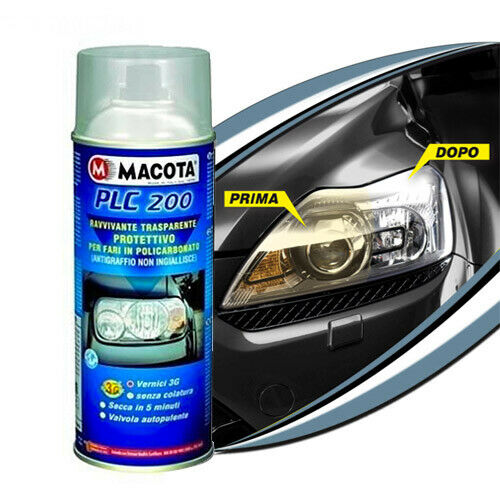 MACOTA PLC 200 Transparent Brightener Headlights Protective Spray Paint 400ml Tuning