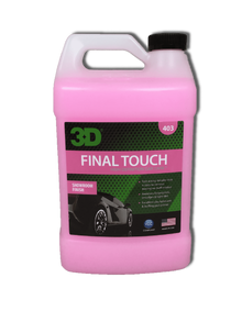 3D 403 HD Final Touch Spray Detailer Effetto brillante Pre e Dopo Lucidatura 3.78LT