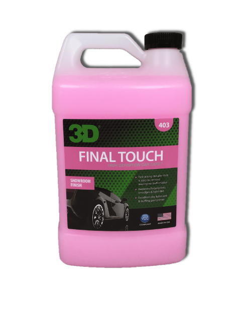 3D HD FINAL TOUCH 403 SPRAY DETAILER EFFETTO BRILLANTE 3.78LT