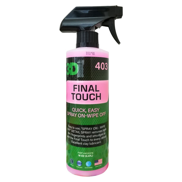 3D HD FINAL TOUCH 403 SPRAY DETAILER EFFETTO BRILLANTE
