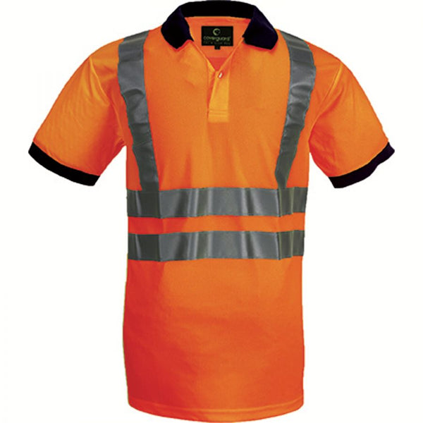 High visibility reflective work polo shirt S - XXXL 140 g/m