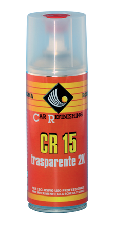 VERNICE SPRAY TRASPARENTE BICOMPONENTE 2K 400ML ROLMA CR 15