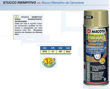 STUCCO RIEMPITIVO AGGRAPPANTE ANTIRUGGINE BOMBOLETTA SPRAY MACOTA DA 400 ML 200ML