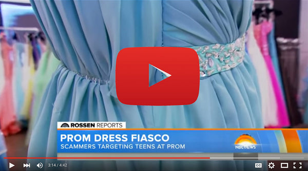 Avoid Prom Dress Scams by shopping at Authorized Retail Stores