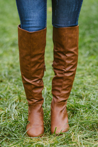 Changing Seasons- Tan Boots