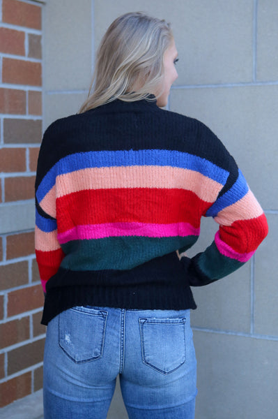 Poppin'- Striped Sweater