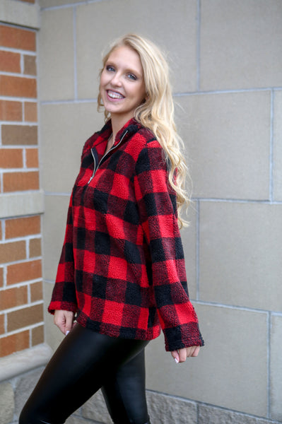 Holiday Fever- Plaid Sherpa