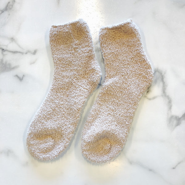 Happy Feet- Solid Short Fuzzy Socks (Multiple Colors)