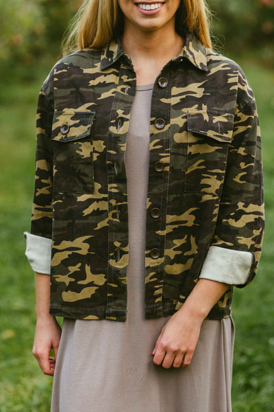 Now You See Me- Camo Jacket