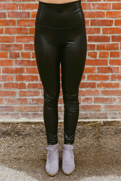 Oh Darling- Lined Faux Leather Leggings