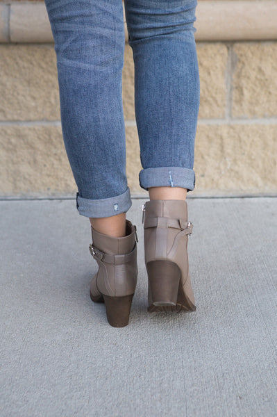 Showstopper- Taupe Bootie