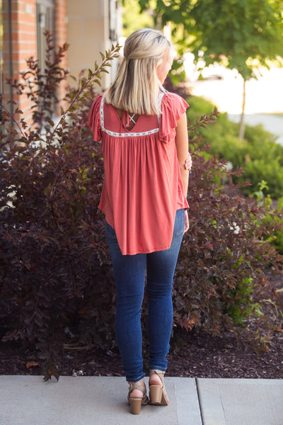 Free Time-Short Sleeve Flowy Top
