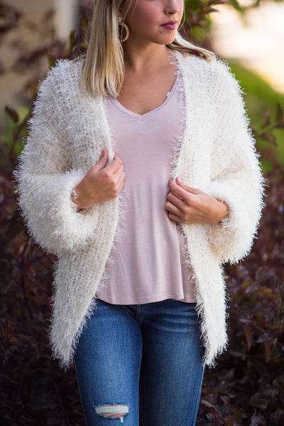 High Road-Fuzzy Long Sleeve Cardigan