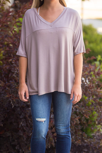 Gemma-High Low VNeck Top