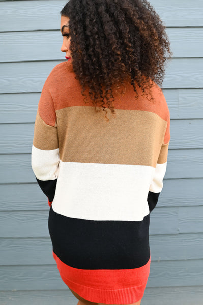 Cornucopia- Striped Sweater Dress
