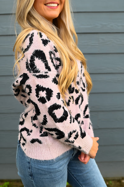 Fuzzy Feeling- Knot Back Sweater