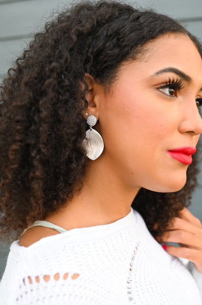 Piper- Rhinestone Oval Drop Earring