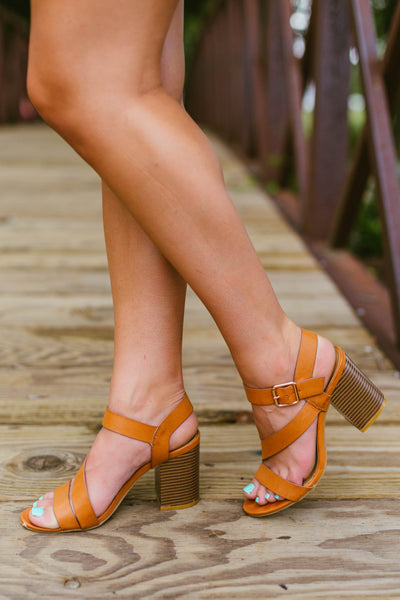 One Step at a Time- Tan Heel