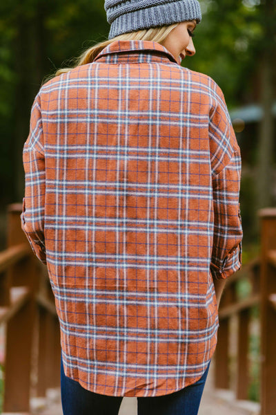 All My Love- Cinnamon Plaid Shirt