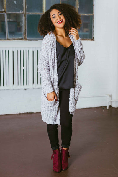 Sweet Child Of Mine- Grey Long Cardigan