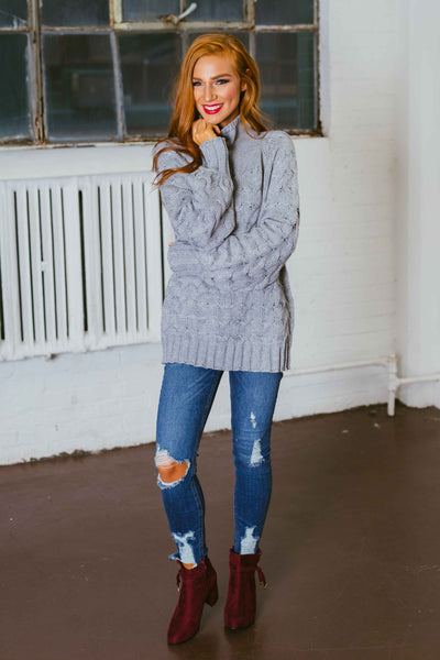 Mountain Village- Cable Knit Sweater