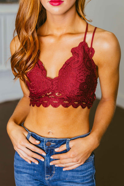 Sweet Thing- Double Strap Burgundy Bralette