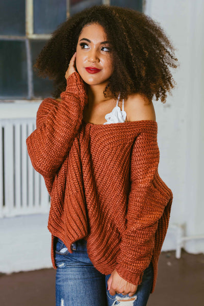 Take It Away- V-Neck Knit Sweater
