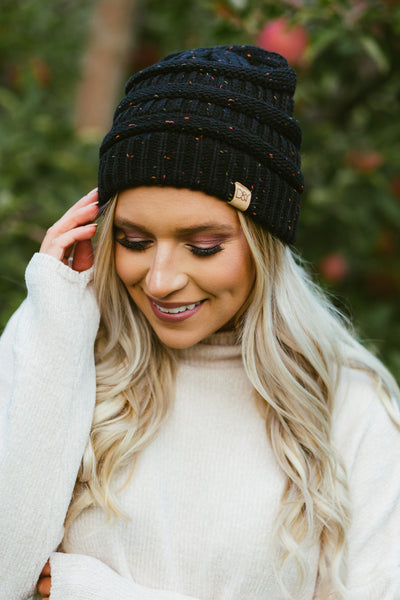 Throw Confetti- Beanie Black