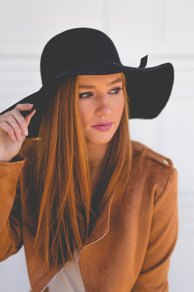 Everyday Necessity- Black Floppy Hat