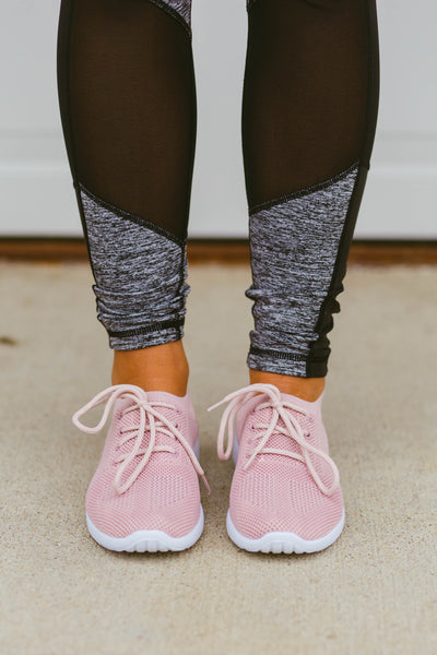 Walk the Line- Blush Sneakers