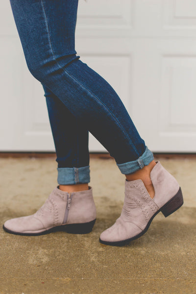 Walk On By- Side V-Cut Slip On Booties