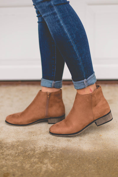 Let's Go On An Adventure- Camel Ankle Booties