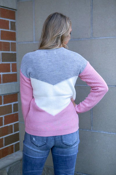 Explorer- Colorblock Sweater Grey
