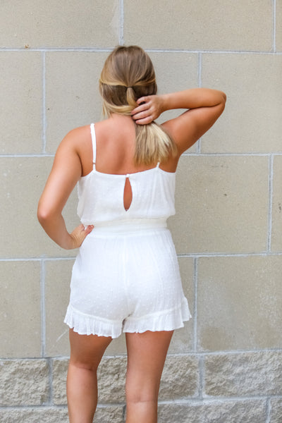 Go To-Ruffle Bottom Sash Romper