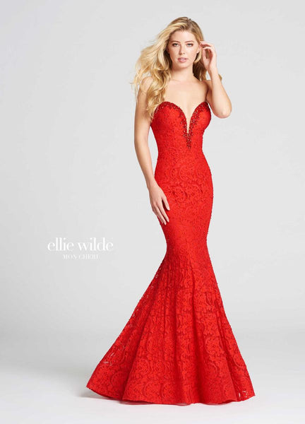 The fabric in this Ellie Wildestyle is Stretch Lace   Ellie Wilde by Mon Cheri