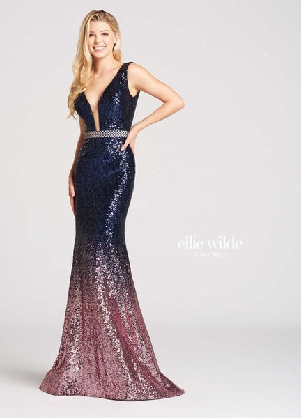 The fabric in this Ellie Wildestyle is Ombre Sequin   Ellie Wilde by Mon Cheri