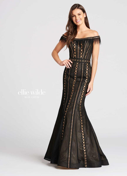 The fabric in this Ellie Wildestyle is Lace & Tulle   Ellie Wilde by Mon Cheri