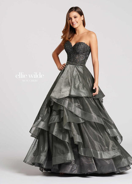 The fabric in this Ellie Wildestyle is Metallic Lace & Shimmer Tulle   Ellie Wilde by Mon Cheri