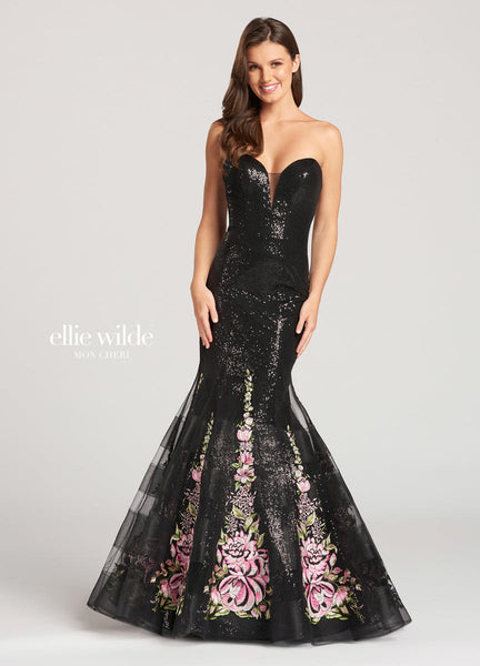 The fabric in this Ellie Wildestyle is Sequin, Tulle, & Embroidered Lace   Ellie Wilde by Mon Cheri