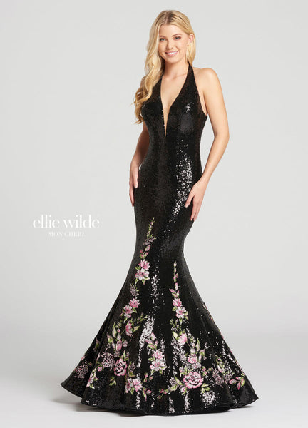 The fabric in this Ellie Wildestyle is Sequin & Embroidered Lace   Ellie Wilde by Mon Cheri