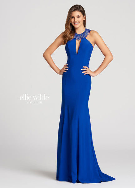 The fabric in this Ellie Wildestyle is Stretch Crepe   Ellie Wilde by Mon Cheri