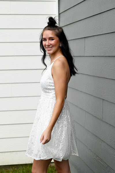 Showstopper- Sequin Dress Ivory