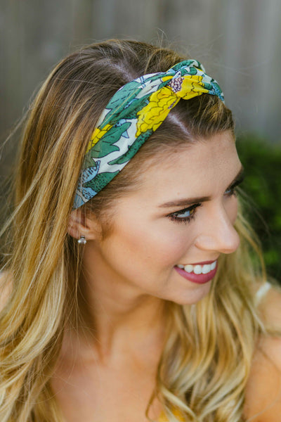 Buttercups- Yellow Floral Headwrap