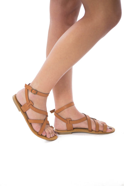 Tropical Getaway- Tan Sandal