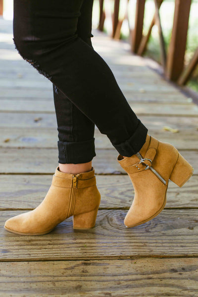 State High- Tan Ankle Bootie W/ Buckle
